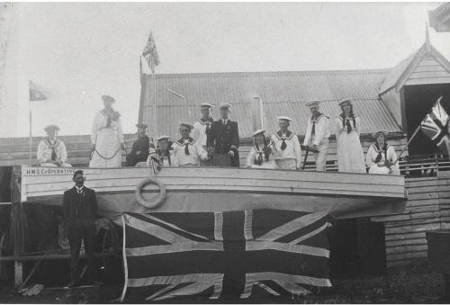 1900s coop float for procession